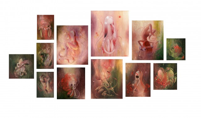 Sweet Nothings Paintings Layout