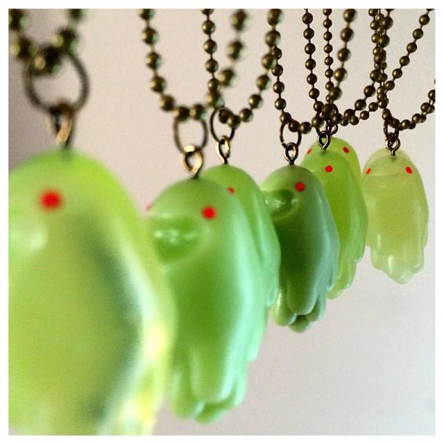 Gooey Ghosties Slimer Pendants