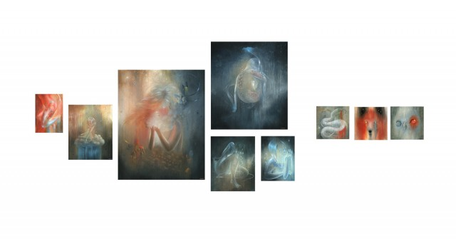 BunnyCutlet Presents 7 Artists Painting Layout